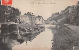 ¤¤   -   BELGIQUE   -   NAMUR    -   La Sambre Et La Citadelle   -  Péniche  -   ¤¤ - Namen