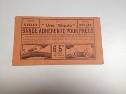 Emplatre, Pneu Cure, à Bavette, Publicité, Vers 1920, Réparation Minute - Reclame