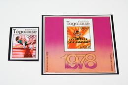 Togo 13.03.1978 Mi # 1278В; Bl 126В Moscow Summer Olympics 1980 FULL IMPERF SET - Verano 1980: Moscu