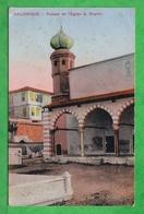 SALONIQUE - THESSALONIQUE - FACADE DE L'EGLISE SAINTE SOPHIE- Carte écrite En 1917 - Grecia