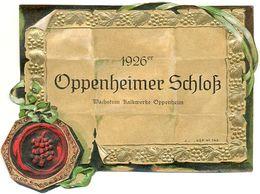 Altes Weinetikett, 1926 Er Oppenheimer Schloß, Wein - Ettiket - Etiketten