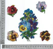 CHROMO DECOUPIS  GAUFRÉ / FLEURS DE PENSÉES - Flowers