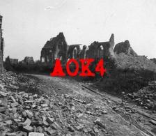 WOUMEN Diksmuide Straat Ruine 1917 1918 Flandern IJzer Yser Tram Kerk Kerkhof - Guerre, Militaire
