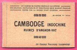 20 Cp - Cambodge - Indochine - Ruines D'Angkor Vat - Bonzes - Danseuses - EUGENE BISTAQUE - LA MAISON D'ART COLONIAL - Cambodge