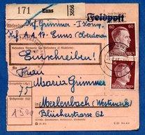 Colis Postal  --  Départ Enns  -  24/8/1943 - Allemagne