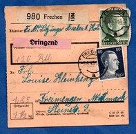 Colis Postal  --  Départ Frechen  - 5/6/1943 - Allemagne