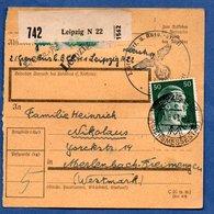 Colis Postal  --  Départ Leipzig  - 1/6/1943 - Allemagne
