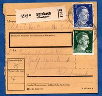 Colis Postal  --  Départ Butzbach - 9/6/1943 - Allemagne