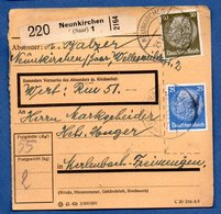 Colis Postal  --  Départ Neunkirchen  -- 23/11/1942 - Allemagne