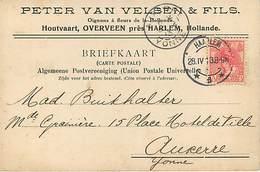 Pays Bas : Houtvaart Overveen Harlem Oignons A Fleurs Tulipes - 1891-1948 (Wilhelmine)