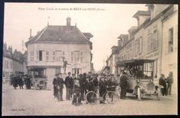 """10  MERY Sur SEINE   Place Croala  """"Départ De L' AUTOBUS""""    Belle Carte - Autres Communes"""