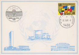 UNO Vienna 1981 Souvenir Card Wipa (wrinkle In Corner) (39131) - Maximumkaarten