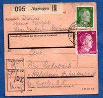 Colis Postal  --  Départ Algringen ( Algrange ) -- 8/10/43 - Allemagne