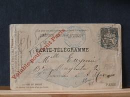 77/610  CARTE TELEGRAMME  1885 - Postwaardestukken