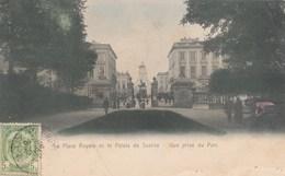 BRUXELLES / BRUSSEL / LA PLACE ROYALE ET LE PALAIS DE JUSTICE VUS DU PARC - Marktpleinen, Pleinen