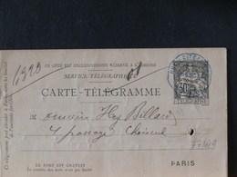 77/619  CARTE  TELEGRAMME 1886 - Postwaardestukken