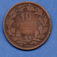 Luxembourg -- 10 Cents 1854  -- Km # 23.1 - état B+ - Luxembourg