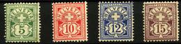 3072-Suiza Nº 66, 67b, 68, 70 - Nuevos