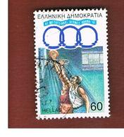 GRECIA (GREECE) - SG 1881 -  1991 MEDITERRANEAN GAMES: BASKETBALL  - USED ° - Grecia