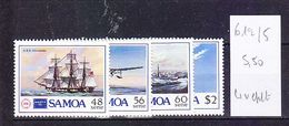 TIMBRE................SAMOA 612/614 AVION BATEAU - Samoa Américaine