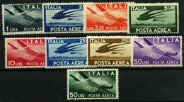 3066-Italia Nº 113/21 Aéreos - 1946-60: Neufs