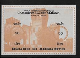Italie - Chèque - 50 Lire - NEUF - [10] Checks And Mini-checks