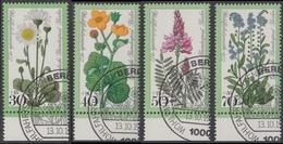 !b! BERLIN 1977 Mi. 556-559 USED SET Of 4 SINGLES W/ Bottom Margins (a2) - Grassland Flowers - [5] Berlin