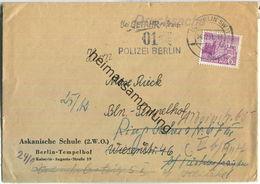 Ortsbrief Berlin - 6 Pf. Bauten - Askanische Schule Tempelhof Am 24.Dezember 1951 - Berlin (West)