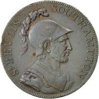 Monnaie, Grande-Bretagne, Hampshire, Halfpenny Token, 1791, Southampton, SUP - Monnaies Régionales