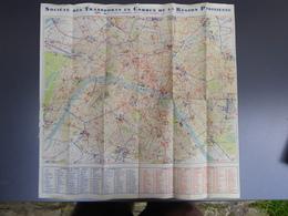 Carte SOCIETE DES TRANSPORTS DE LA REGION PARISIENNE ANNEE 1932 - Cartes Routières