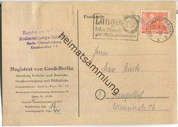 Ortskarte Berlin - 8 Pf. Bauten - Magistrat Von Groß-Berlin Am 21.Januar 1950 - Berlin (West)