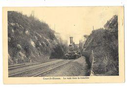 Court-St-Etienne  ( M 4017 ) Vieille Train Dans La Tranchée Top De Top - Court-Saint-Etienne