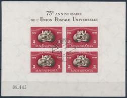 O 1950 UPU Vágott Blokk (140.000) / Mi Bl 18 Imperforate Block - Stamps