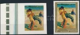 (*) 1967 Festmények III. 1Ft Vágott ívszéli Bélyeg Arany  Színnyomat Nélkül. A Szakirodalomban Ismeretlen. / Mi 2371 Mar - Stamps