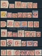 O 1867 Kis Bélyegzésgy?jtemény 39 Db Bélyeg és Kivágás Berakólapon (Gudlin ~ 5.850 Pont) - Stamps