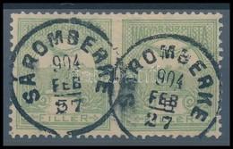 O 1900 Turul 5f Pár Középen Fogazatlan 'SÁROMBERKE' RR! (Katalógusár Nevetséges) - Stamps