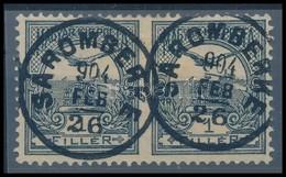 O 1900 Turul 1f Pár Középen Fogazatlan 'SÁROMBERKE' RR! (Katalógusár Nevetséges) - Stamps