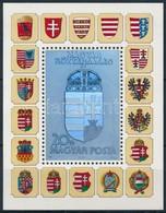 ** 1991 Hologramos Címer Blokk Fekete Sorszámmal (50.000) / Mi. Block 218 With Black Number On The Backside - Stamps