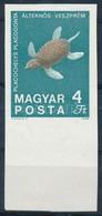 ** 1969 Földtani Intézet 4Ft ívszéli Vágott, Fekete Színnyomat Nélkül (40.000) (betapadás / Gum Disturbance) - Stamps