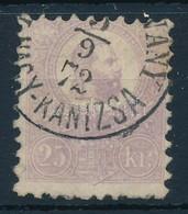 O 1871 K?nyomat 25kr Nagykanizsai Pénzutalvány Bélyegzéssel (45.000) - Stamps