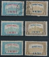 ** * O 1918 Repül? Posta Postatiszta, Falcos és Bélyegzett Sorok (40.000) - Stamps