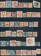 O 1850-1864: Kis Bélyegzésgy?jtemény. 45 Db Bélyeg és Kivágás Berakólapon (Gudlin ~ 4.400 Pont) - Stamps