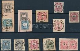 11 Db Kivágás Krajcáros Bélyegekkel, Luxus Bélyegzésekkel - Stamps