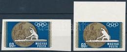 (*) 1968 Olimpiai érmesek 60f Vágott ívszéli Fázisnyomat A Szürke Szín Nélkül + Támpéldány - Stamps