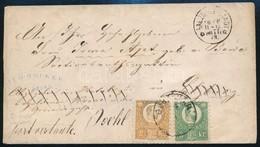 1873 Réznyomat 2kr + 3kr Színes Bérmentesítés Levélen 'BUDA VÁR' - Salzburg, Továbbküldve - 'ISCHL' Érdekes Darab! - Stamps