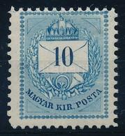 ** 1874 10kr 11 1/2 Fogazással, Hibátlan, Szép Friss Szín? Darab RR! (36.000) - Stamps