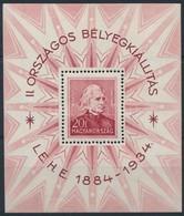 ** 1934 LEHE Blokk (30.000) (ráncok/creases) - Stamps