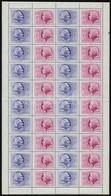 ** 1956 Bélyegnap (29.) Középen Hajtott Teljes ív (30.000) - Stamps