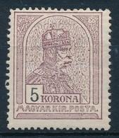 * 1909 Turul 5K Fekv? Vízjellel (27.000) - Stamps