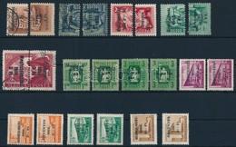 (*) O 1950 - 1960 Meghatalmazás-Érvényes  Gy?jtemény 22 Bélyeg, Közte összefügg? Pár (~ 25.000) - Stamps